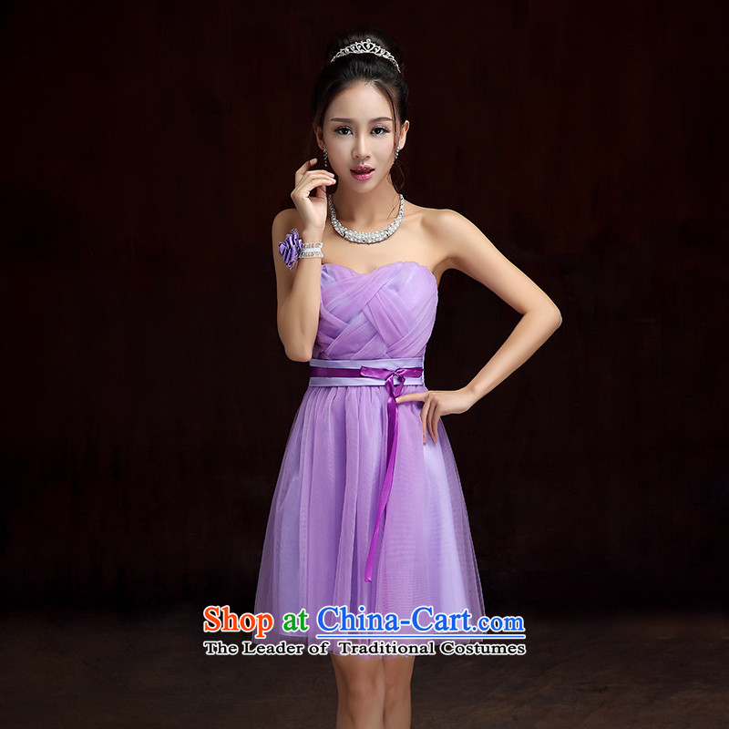 2015 new bridesmaid dress bride bows services long bridesmaid service, under the auspices of the show little sister skirt dress xl chairman skirt etiquette skirt purple short skirts are approximately 85-115 code catty