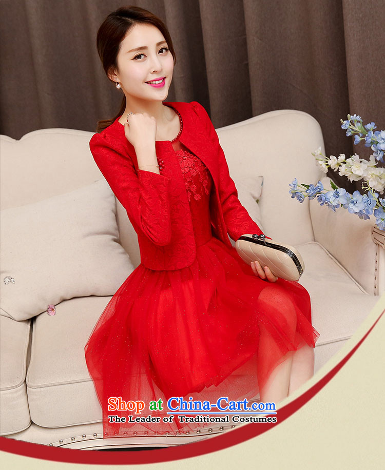 The law of the Korean version of Mary Kay autumn and winter flower sexy engraving lace bride back to the bows services bridesmaid Mun two kits dresses Wedding Dress Short, marriage bon bon skirt female red聽XXL picture, prices, brand platters! The elections are supplied in the national character of distribution, so action, buy now enjoy more preferential! As soon as possible.