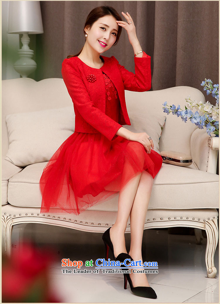 The law of the Korean version of Mary Kay autumn and winter flower sexy engraving lace bride back to the bows services bridesmaid Mun two kits dresses Wedding Dress Short, marriage bon bon skirt female redXXL picture, prices, brand platters! The elections are supplied in the national character of distribution, so action, buy now enjoy more preferential! As soon as possible.