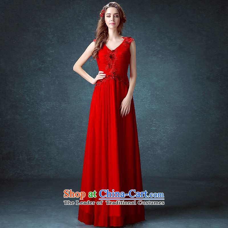 2015 new bride short-sleeved gown video thin lace bows to the autumn and winter long marriage red dress banquet red can be made plus $30 Does Not Return