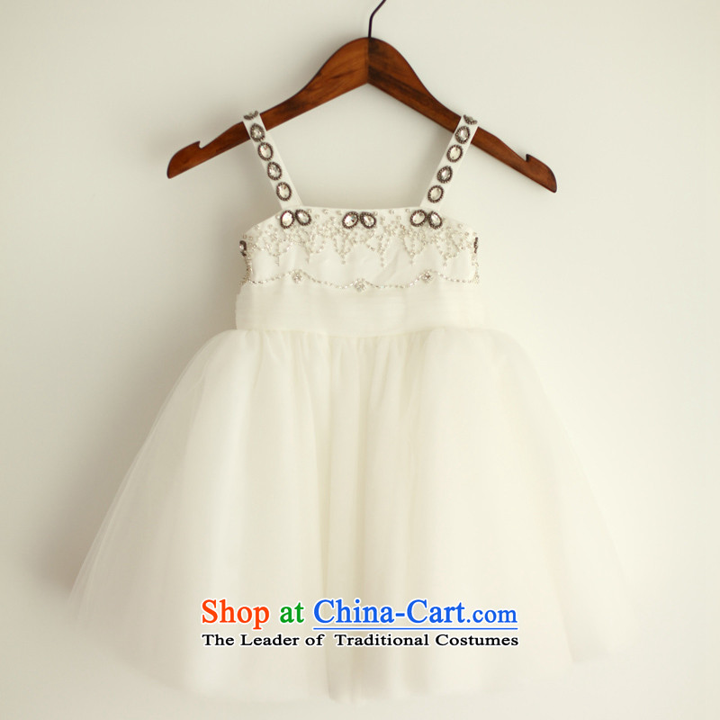 Mr. Guiss��?2015 new elegant succinct lovely hand-set and Flower Girls dress white?3-year-old