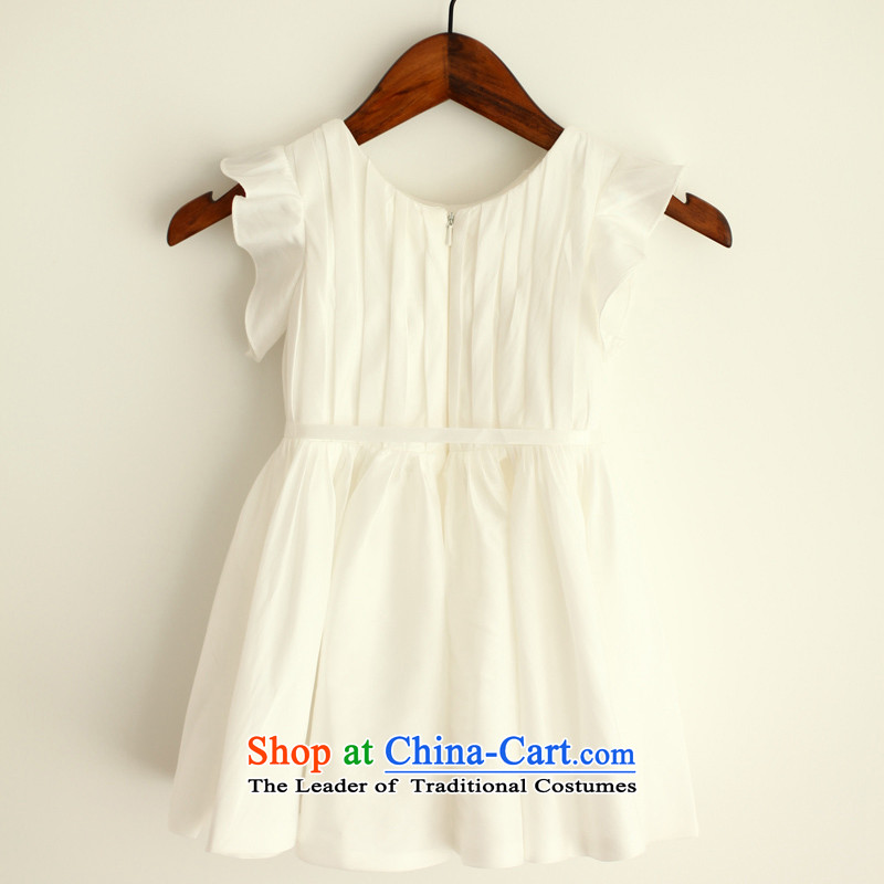 Mr. Guiss茅聽2015 new billowy flounces sleeve design and decor of the children's wear dresses floweret folds white聽24 months (MRJI) , , , shopping on the Internet