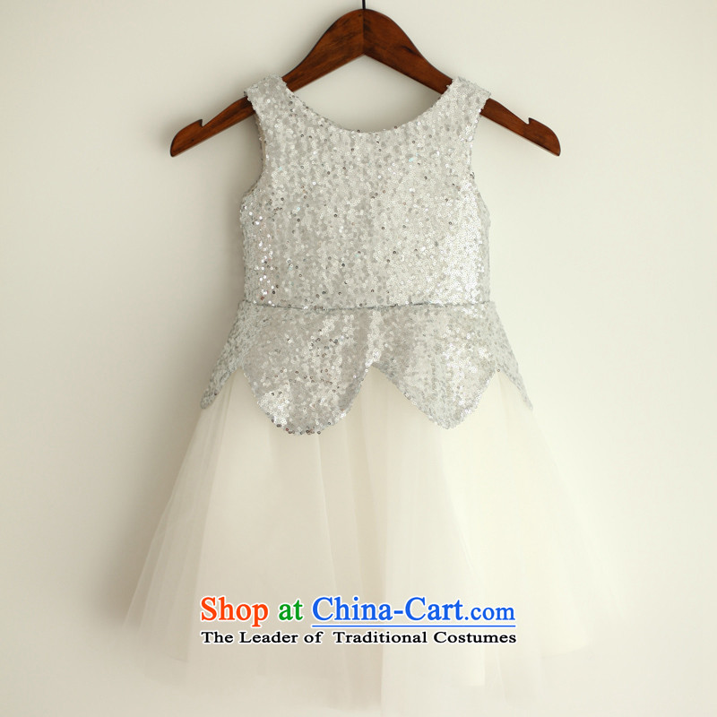 Mr. Guissé?2015 new stylish and neat vest straps flower children's wear dresses white?18 Months