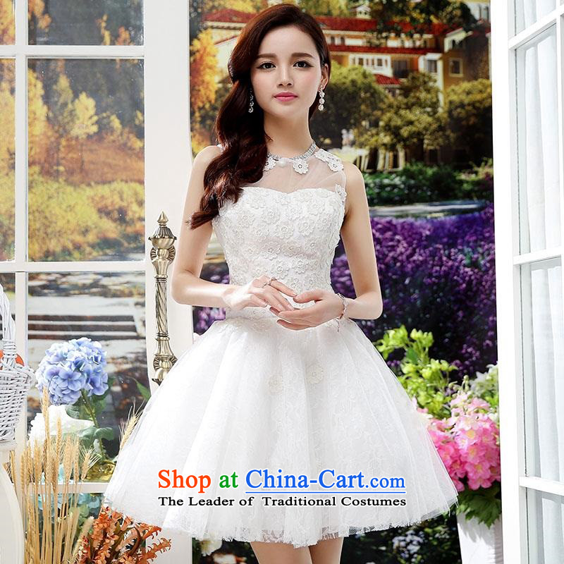 Upscale dress聽2015 Summer new lace dresses dress like Susy Nagle sleeveless bon bon skirt video thin Princess Sau San skirt banquet etiquette replacing botanists skirt white聽S