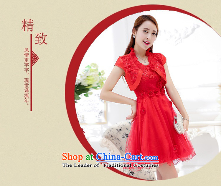 Upscale dress 2015 Summer new bridal dresses dress small shawl two kits lace bon bon skirt bridesmaid princess skirt RED M picture, prices, brand platters! The elections are supplied in the national character of distribution, so action, buy now enjoy more preferential! As soon as possible.