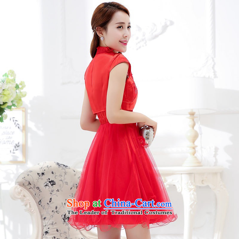 Upscale dress 2015 Summer new bridal dresses dress small shawl two kits lace bon bon skirt bridesmaid princess skirt RED M where the shark, VANCE SHARK , , , shopping on the Internet