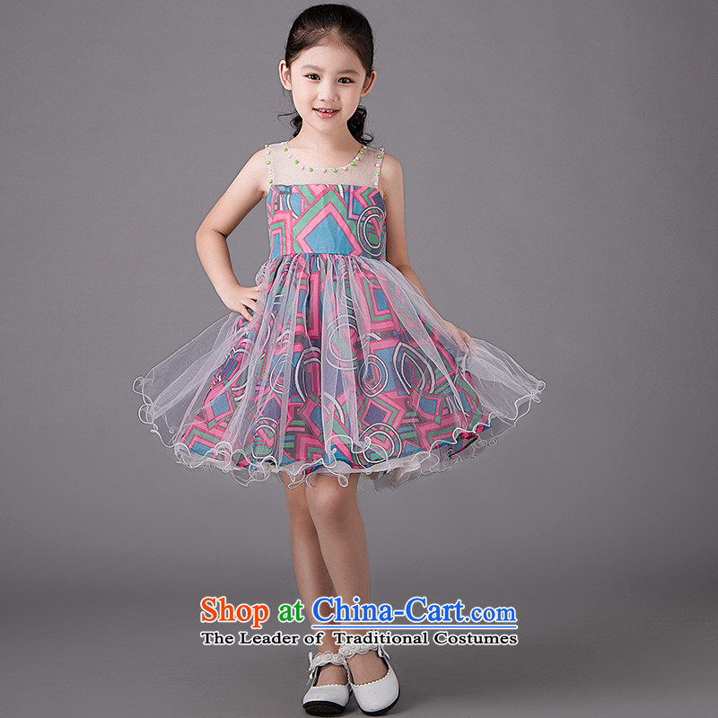 Tim hates makeup and children dress skirt girls princess skirt girls princess skirt Flower Girls dress skirt the piano will replace dress parent-child HT5023 flower children's wear聽110CM,