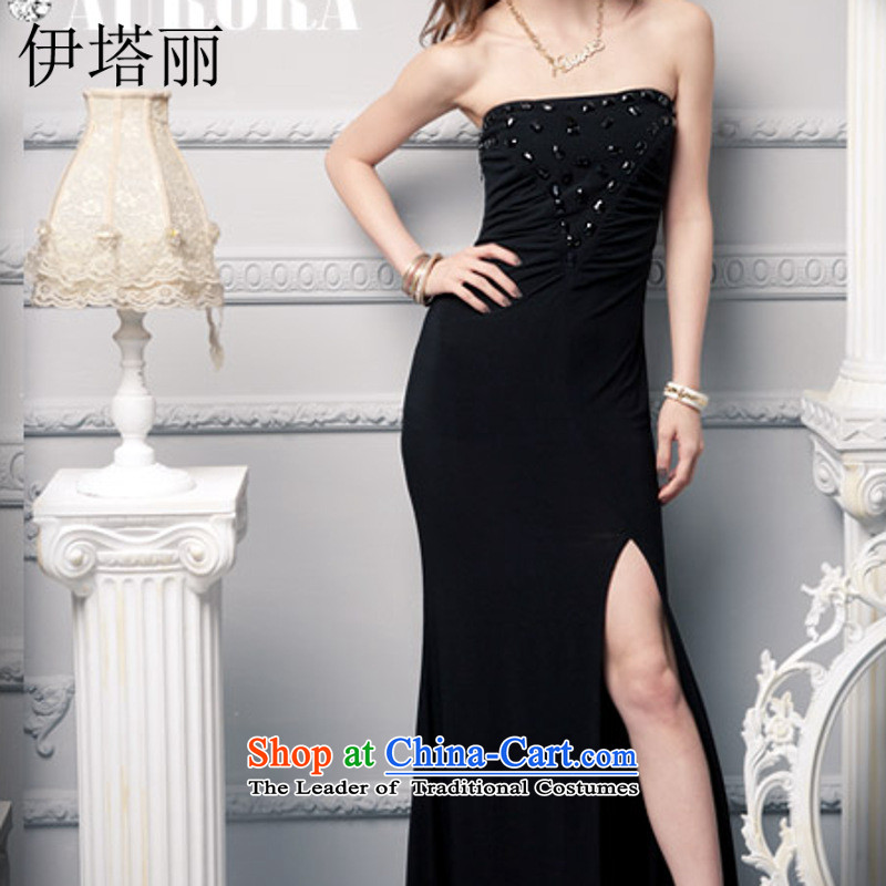 Hitta Lai won the jewelry Shek Sau San wrapped chest evening dresses wedding banquet dresses?KTV?bows 659# services will Purple