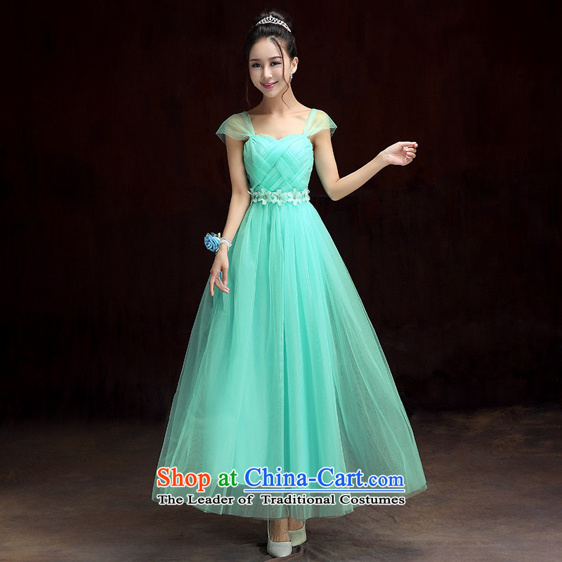 2015 new bridesmaid dress bride bows services long bridesmaid service, under the auspices of the show little sister skirt dress code annual maximum skirt evening dress long skirt green dress codes 85-115 per capita burden