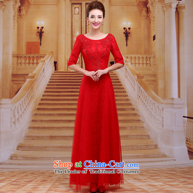 Tim hates makeup and new evening dresses long marriages bows services 2015 winter wedding dresses in cuff Red Dress Frau Holle Plaza, bridal Dance Master LF03 RED?XXL
