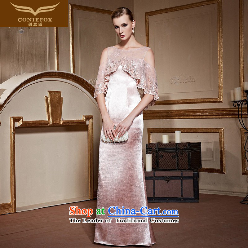 Creative Fox stylish banquet evening dresses Sau San long evening drink service elegant bare shoulders chaired dress wedding dress bridesmaid 30962 Services Pretty Pink?L