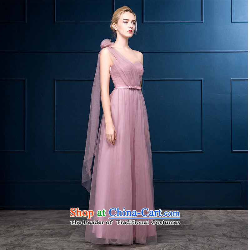 2015 Autumn and winter new bridesmaid mission dress long marriage bridesmaid sister skirt graduated from serving dress banquet bridesmaid skirt tailored consulting customer service