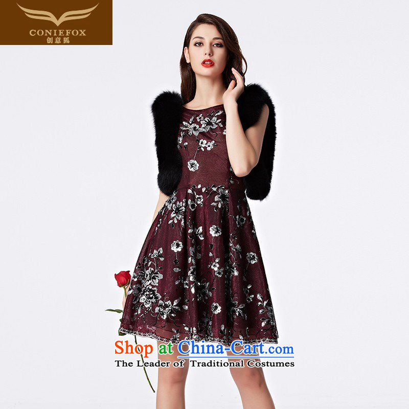 The kitsune bride short of creative evening dress bows services aristocratic stylish banquet evening dress annual chairpersons of Sau San performance dress skirt 31151 wine red�L pre-sale