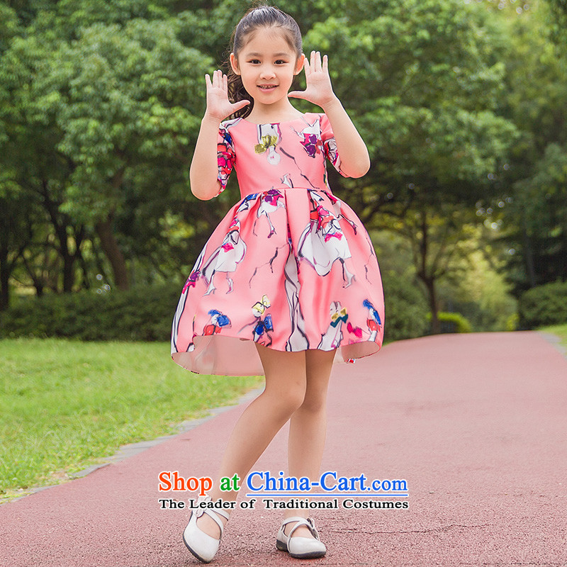 Tim hates makeup and children taking pictures of the girl child and of children's wear skirts flower children princess dancing skirt children bon bon skirt piano performances of children skirt parent-child replacing evening dresses HT5079 children?100 CM