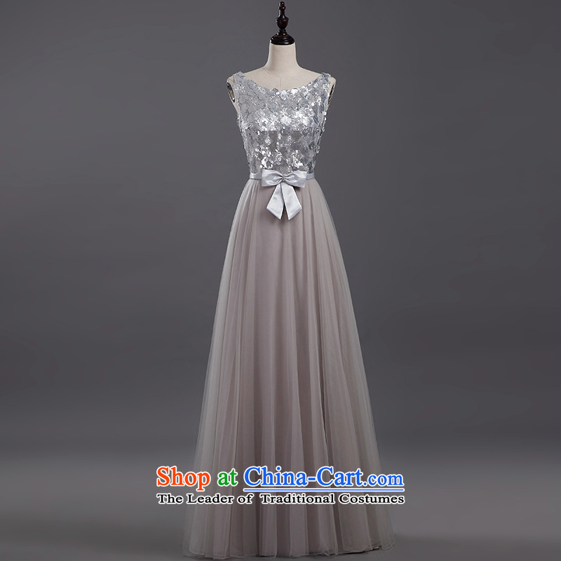 Tim hates makeup and new evening dresses long marriages bows services wedding dresses shoulders stylish bridal dresses winter evening dress clothes LF028 presided over dinner light grayXXL