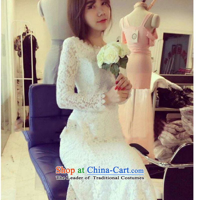 In short poem COE� 2015 2015 autumn and winter new dress skirt back white lace package and crowsfoot skirt the skirt long skirt white are code