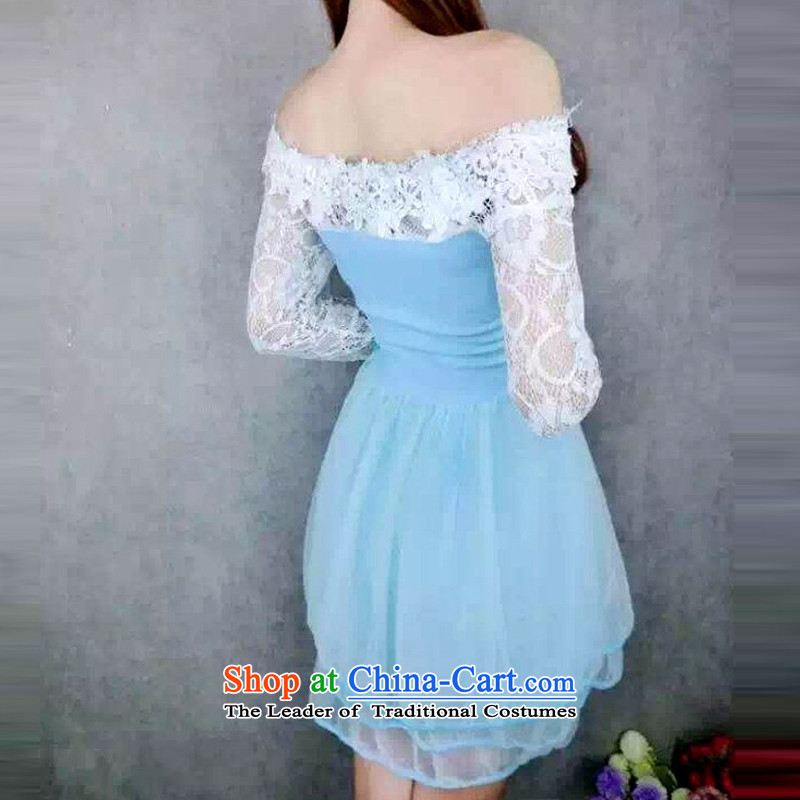 In short poem� �autumn 2015 new COE sexy a field for the Pearl River Delta lace spell a series of dresses dress bridesmaid skirt blue are code
