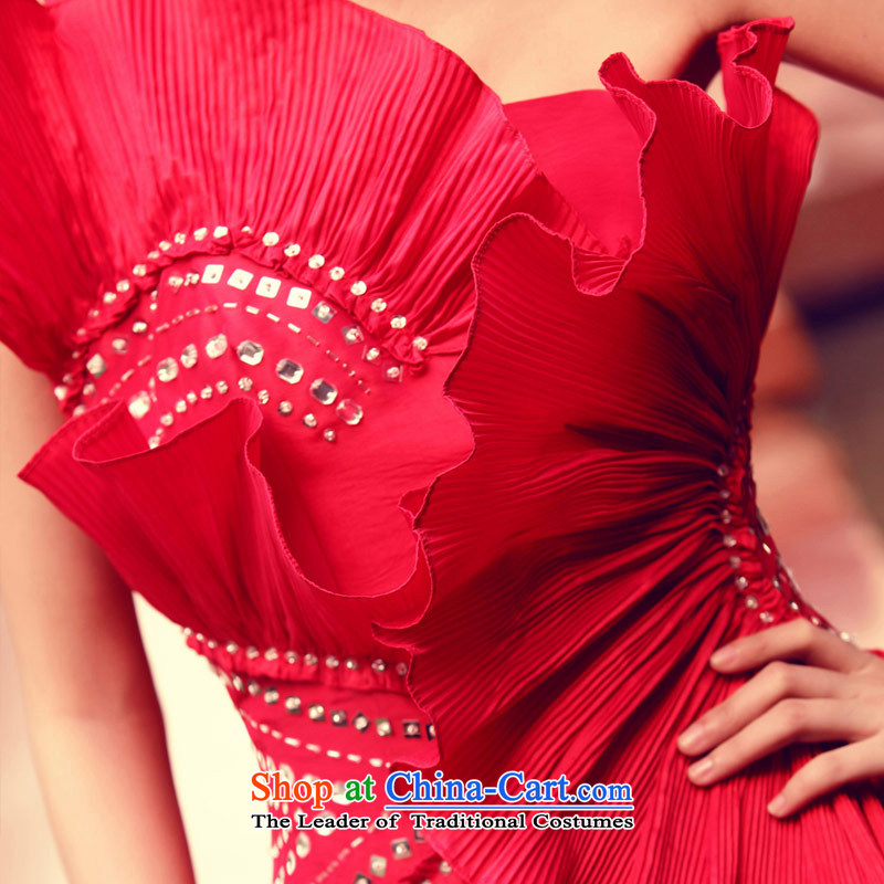 A small red bridal dresses bows to marry bridesmaid services 856 L, a bride shopping on the Internet has been pressed.