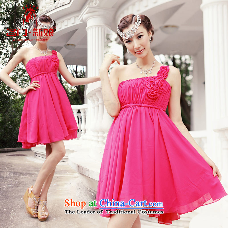 A bride shoulder small dress wedding dress bows to new bridesmaid services�rose 217�M