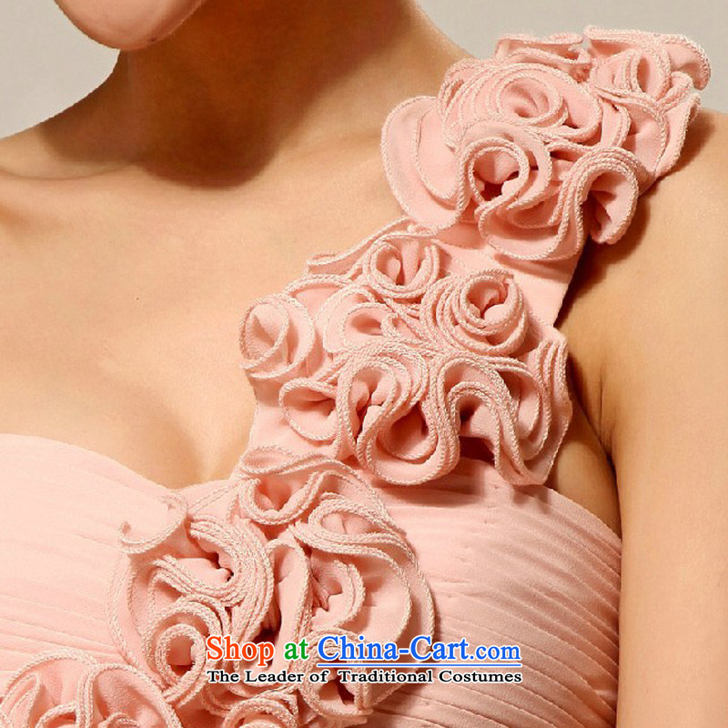 Doi m qi wedding dresses new 2014 Korean shoulder stylish marriages small dress bridesmaid serving meat pink M Demi Moor Qi , , , shopping on the Internet