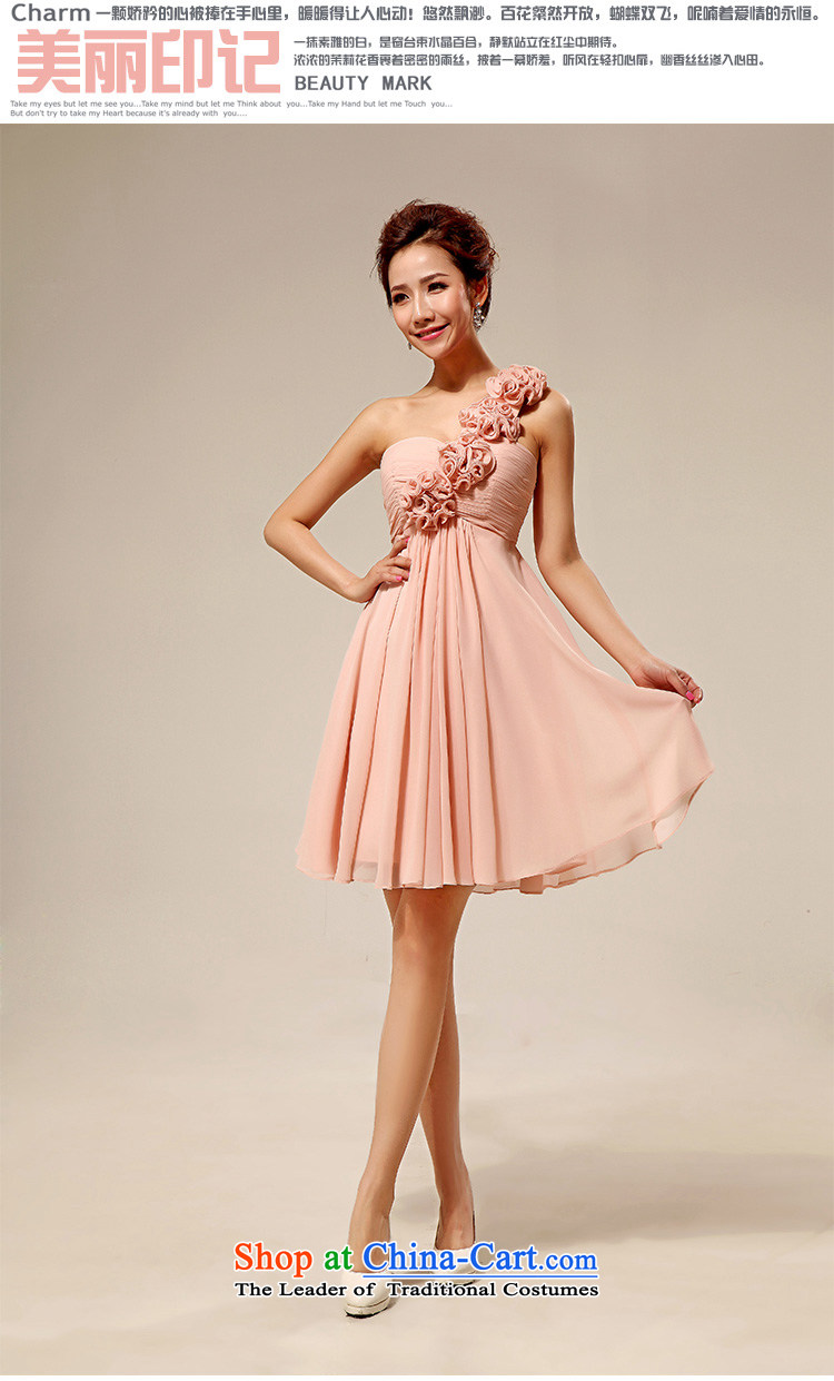 Doi m qi wedding dresses new 2014 Korean shoulder stylish marriages small dress bridesmaid serving meat pink M picture, prices, brand platters! The elections are supplied in the national character of distribution, so action, buy now enjoy more preferential! As soon as possible.
