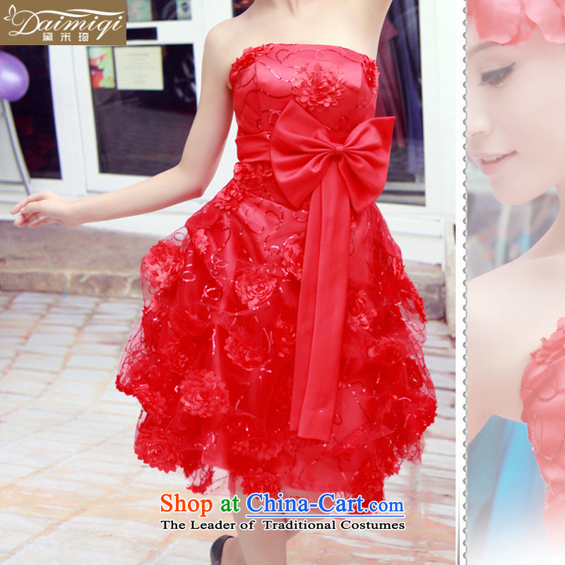 Doi m qi evening dresses bride wedding dress skirt bridal dresses long/evening dresses/will serve under the auspices of red/ XL