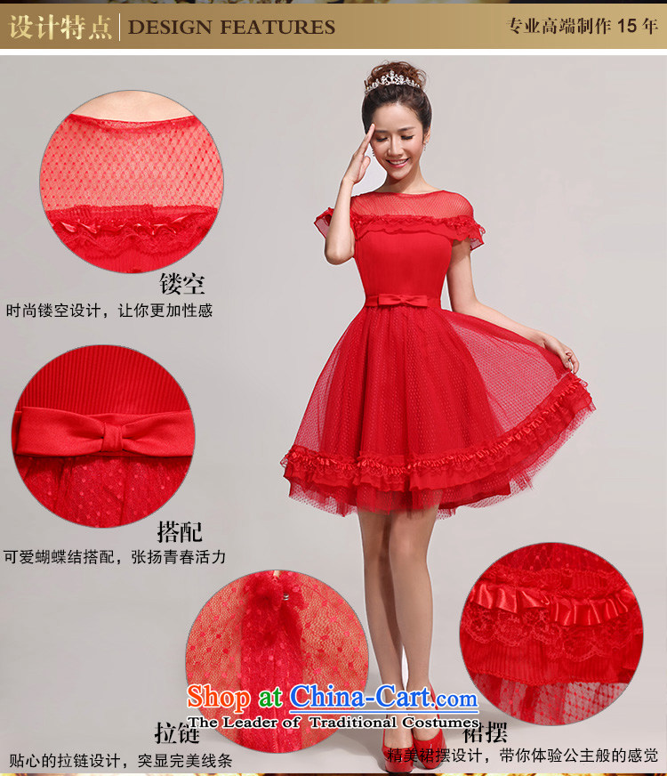 2014 new bride bridesmaid small dress sweet fairy tale wedding gown, Short Princess short of evening shoulders lace bubble cuff bridesmaid services services red XXL toasting champagne picture, prices, brand platters! The elections are supplied in the national character of distribution, so action, buy now enjoy more preferential! As soon as possible.