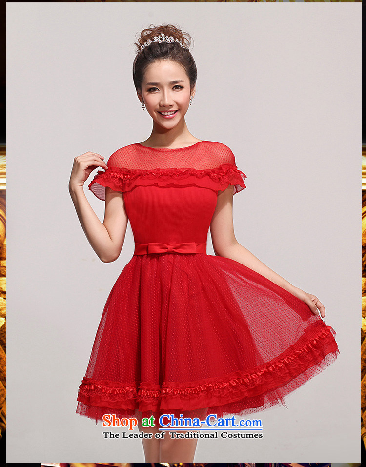 2014 new bride bridesmaid small dress sweet fairy tale wedding gown, Short Princess short of evening shoulders lace bubble cuff bridesmaid services services redXXL toasting champagne picture, prices, brand platters! The elections are supplied in the national character of distribution, so action, buy now enjoy more preferential! As soon as possible.