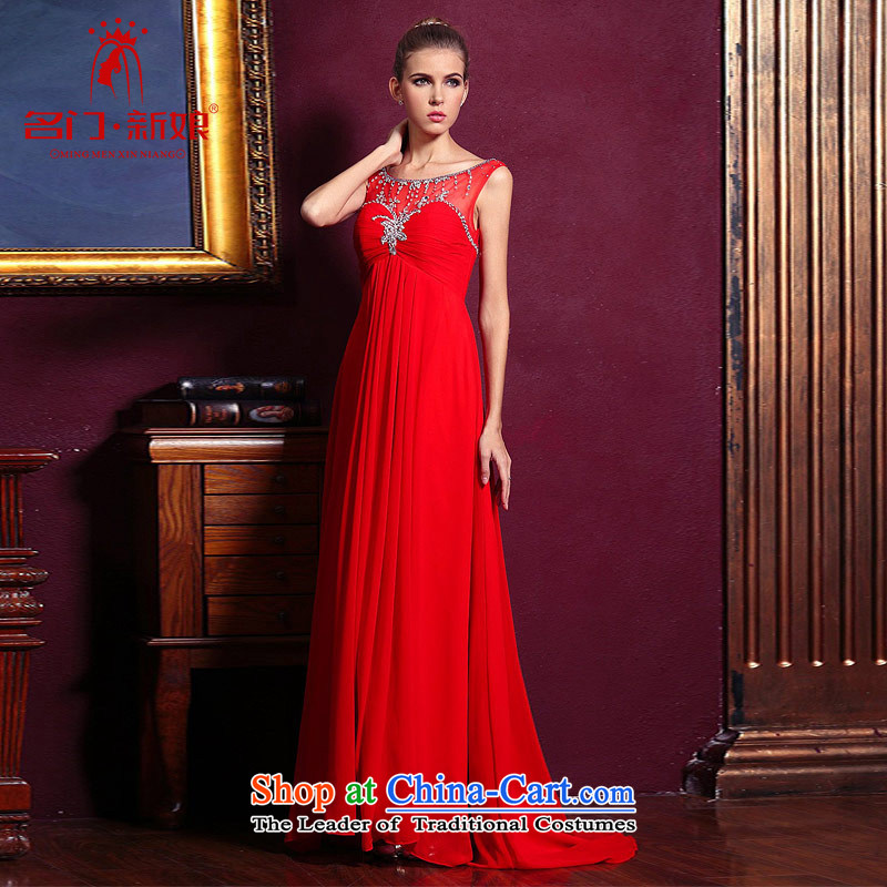 A bride wedding dresses long red bows Services?2015 new wedding dress evening dresses 221 M