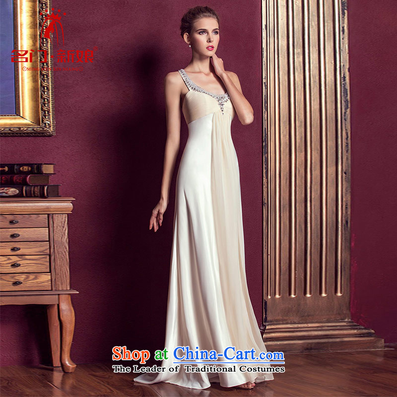 A Bride dress marriage聽new bows Services 2015 long gown bridesmaid nail pearl evening dresses聽298 L