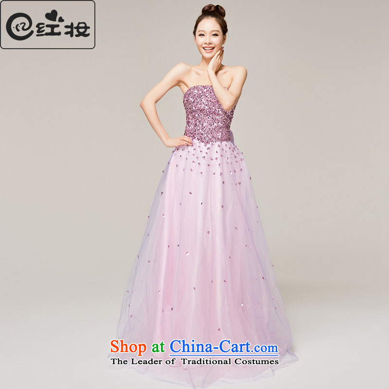 Recalling that hates makeup and spring and summer wedding dresses brides of diamond ornaments with chest bows dress marriage moderator L12121 dress with a light purple�L