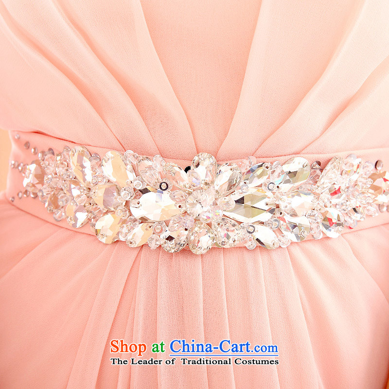 A Bride dress marriage new bows Services 2015 Long bridesmaid dress pink dress 219  L, a bride pink shopping on the Internet has been pressed.