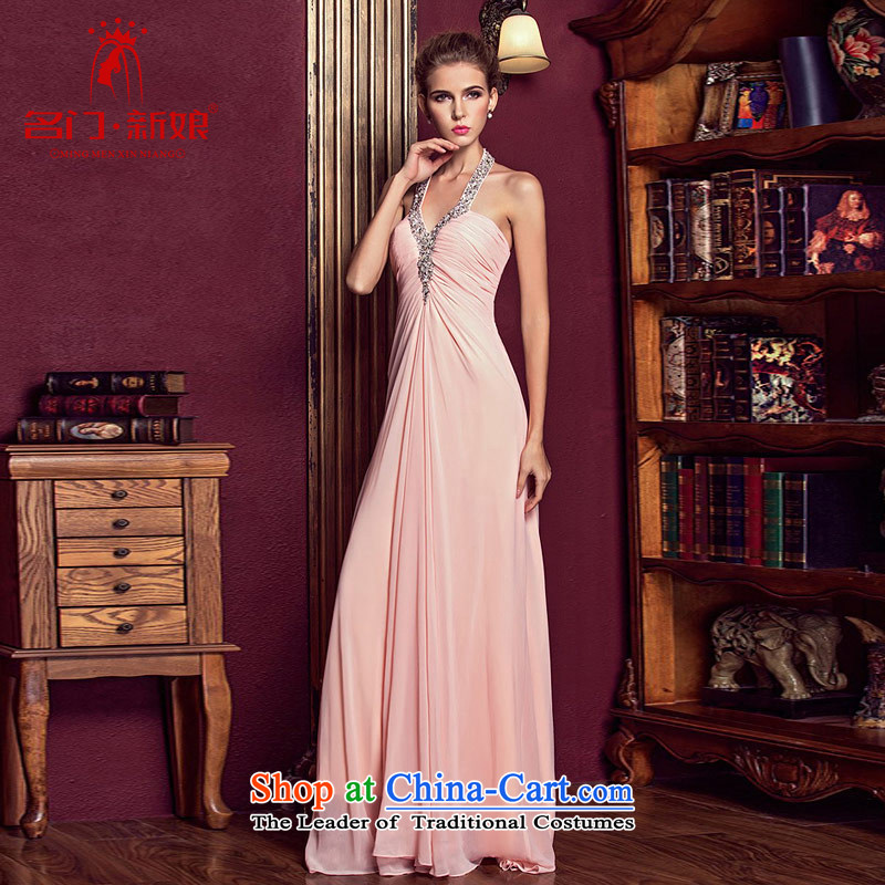 A bride wedding dresses long red bows Services?2015 new wedding dress evening dresses 325 pink?L