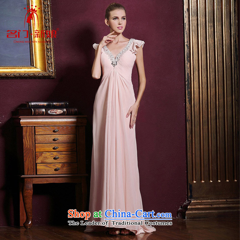A Bride wedding dresses聽2015 new red married long gown bows evening dresses 289 pink聽S