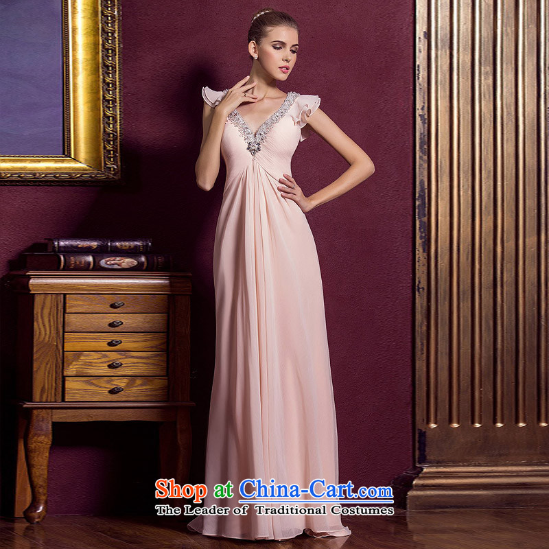 A Bride wedding dresses聽2015 new red married long gown bows evening dresses 289 pink聽S, a bride shopping on the Internet has been pressed.