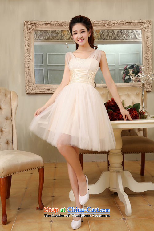 Embroidered is by no means a bride wedding dresses 2015 new short lifting strap, bridal dresses bows service bridesmaid champagne color XXL Suzhou shipment picture, prices, brand platters! The elections are supplied in the national character of distribution, so action, buy now enjoy more preferential! As soon as possible.