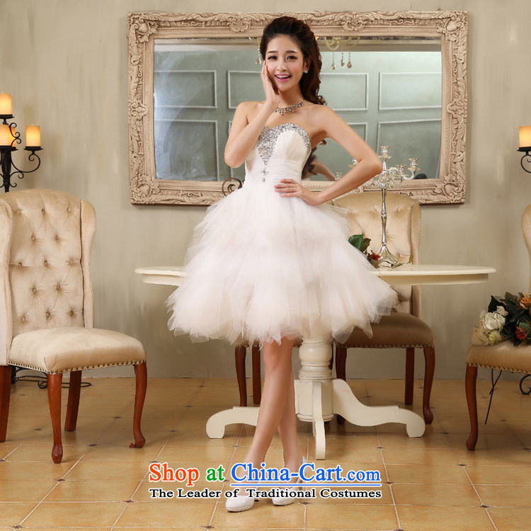 Embroidered is by no means a bride wedding dresses new bride wedding dress and diamond short of chest bridesmaid small white dress with M Suzhou shipment picture, prices, brand platters! The elections are supplied in the national character of distribution, so action, buy now enjoy more preferential! As soon as possible.
