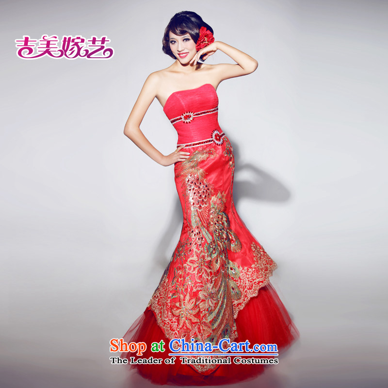 Beijing No. year wedding dresses Kyrgyz-american married arts 2013 new anointed chest Korean bridal dresses crowsfoot 600 bride dress zipper,?XL