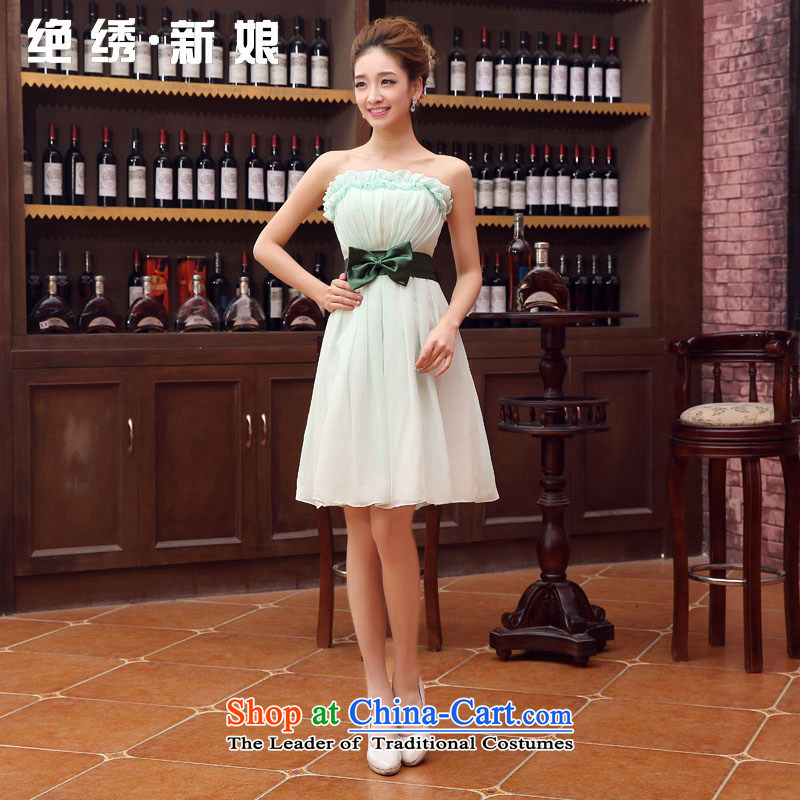Embroidered is thenew Korean brides 2015 edition bridesmaid service, wipe the chest winter will dress sister mission dress chiffon dress photo colorXLSuzhou Shipment