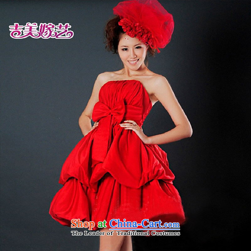 Wedding dress Kyrgyz-american married new anointed arts 2015 Chest Korean short of dress L3304 bridal dresses RED?M