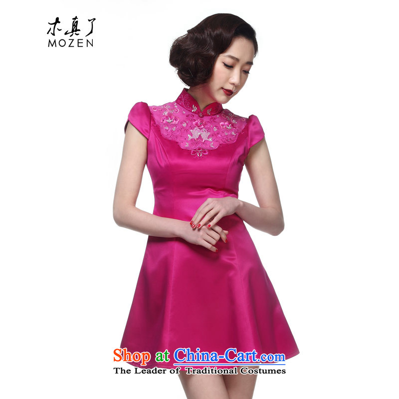 The 2015 summer wood really new Chinese embroidery collar evening dress in cheongsam dress package mail�found 21,962 18 PINK�L