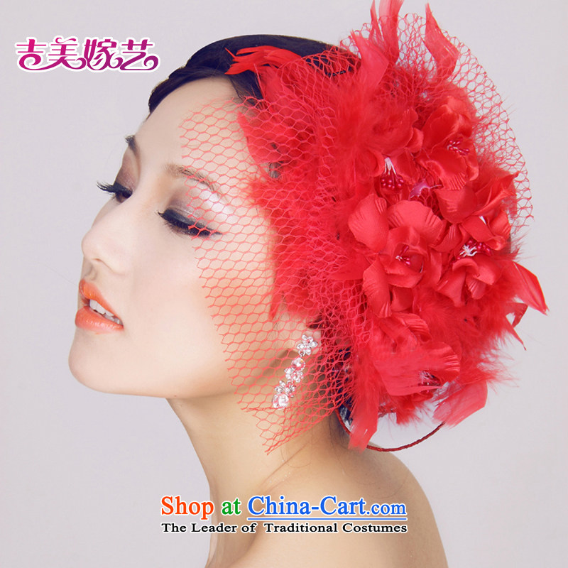 Kyrgyz-US married arts bride jewelry/head/head/red, pink flower luxury�2015 NEW TH2035 Floral Hairpiece Pink