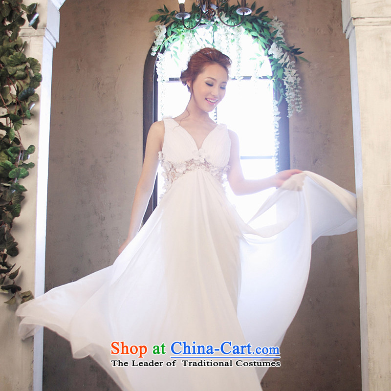 Wedding dress Kyrgyz-american married arts 2014 new strap Korean dress tail LT1163 larger bride dress White�4#
