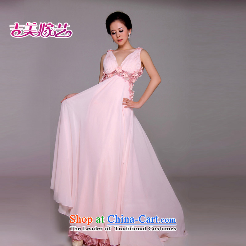 Wedding dress Kyrgyz-american married arts 2014 new strap Korean Athens pink LF1164F larger bride dress pink?10#