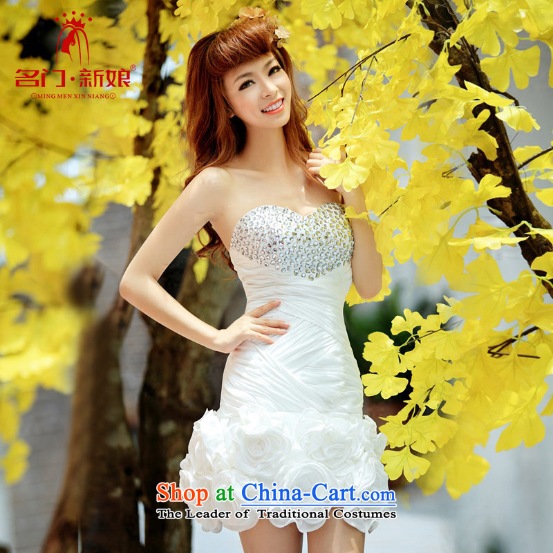 A bride wedding dresses short of small dress bows services evening dresses marriage bridesmaid Services?246 L