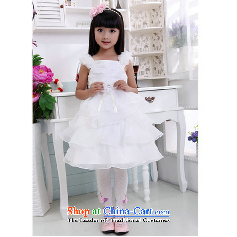 Optimize Hong-Korea girls princess skirt children wedding dresses owara costumes Flower Girls dresses bon bon skirt t08 white�10 Code