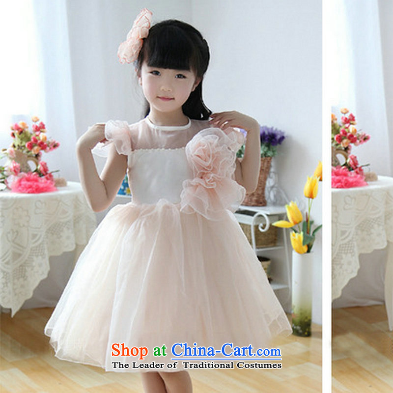 There is also a performance optimization of children's wear skirts girls Flower Girls wedding dress dresses bon bon skirt princess skirt XS1057 children dress flesh 2 code