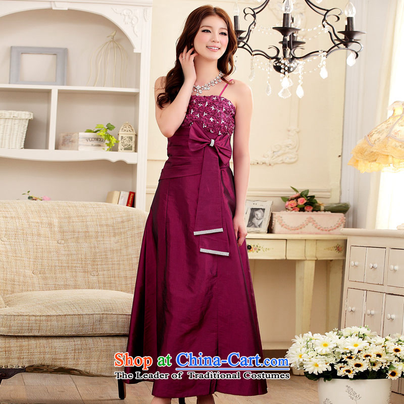 Elegant and well refined Jk2.yy lace water drilling Sau San gown aubergine�XXL