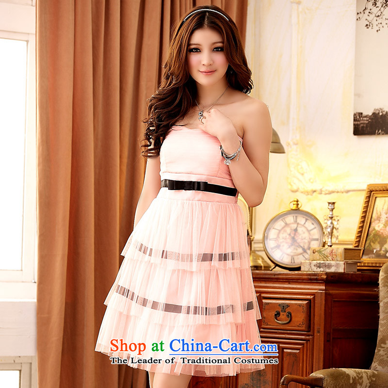 Jk2.yy sweet romantic gauze Layer Cake Princess dress dresses?XXXL Pink
