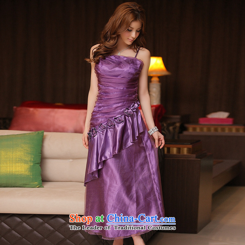 Dinner is bright spot Jk2.yy billowy flounces straps long version of the dress dresses purple are code